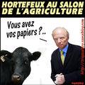 Hortefeux aperçu au salon de l'agriculture...