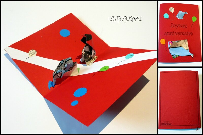 Cartes origami pop up