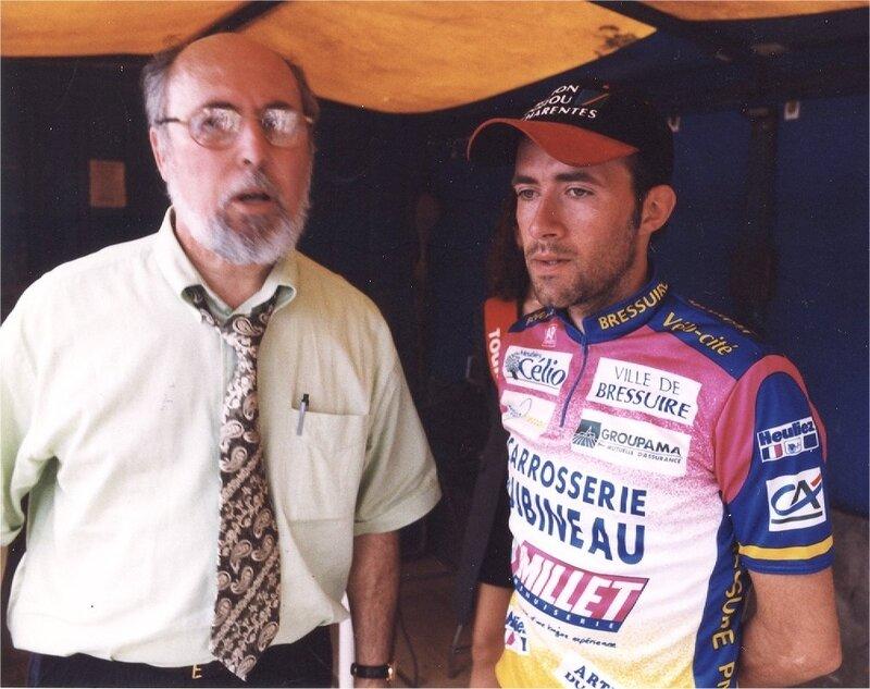 Bellicaud à Hautefort avec Serge Sallès organisateur