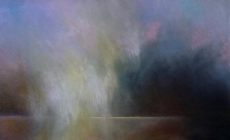 horizon elevation 119, pastel à l'huile, 48 x 32 cm, juin 2019, 2