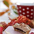 Tartelette sablée bio et sa garniture chocolat et mousse de marrons......