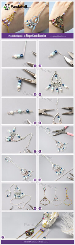 6-PandaHall-Tutorial-on-Finger-Chain-Bracelet