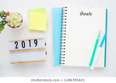 2019-goals-on-blank-note-260nw-1186785421