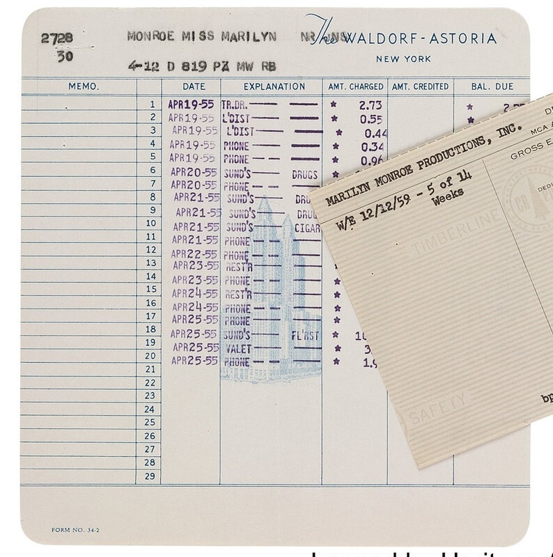 1955-04-19_to_25-invoice_from_The_Waldorf_Astoria-heritage_auction-2017-11