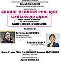 Europe réunion publique 12 mai saint ouen l'aumone