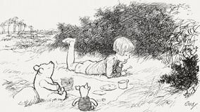 Les Aventures de Winnie l'Ourson - Illustration d'Ernest H Shepard