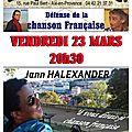 Jann halexander #concert aix-en-provence 23 mars 2018 #chanson la cave aux artistes