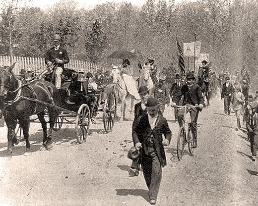 Coxey's Army marchers leaving their camp