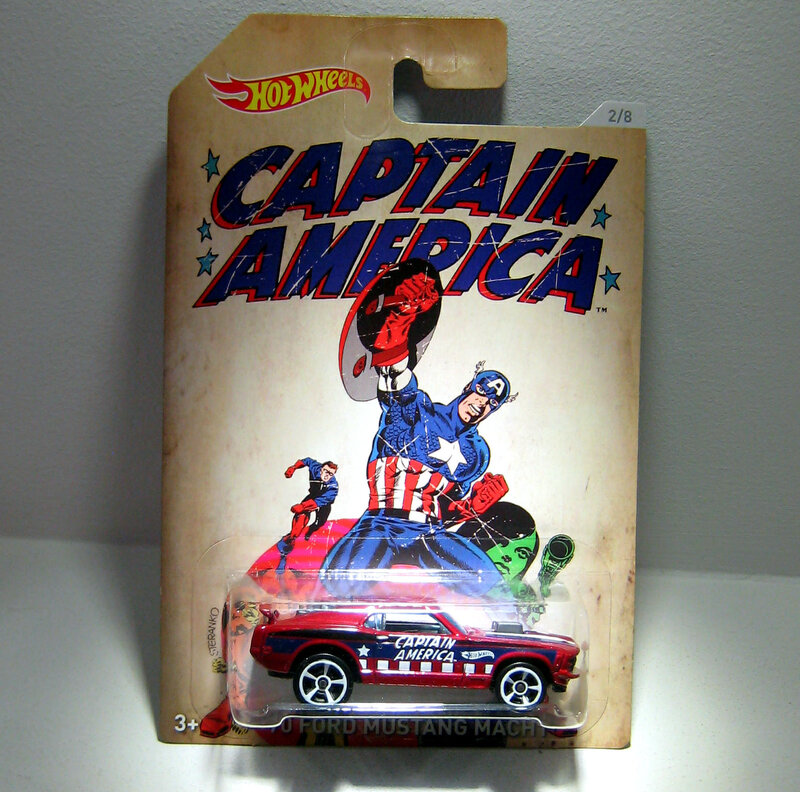 Ford mustang mach 1 serie Captain America(Hotwheels)