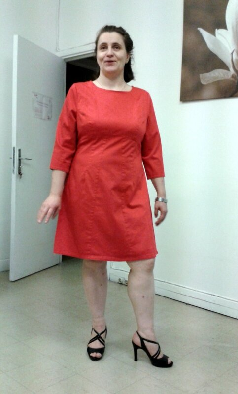 Robe ML Devant rouge bis