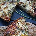 Quiche aux champignons en croûte de quinoa