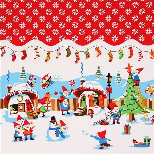 Michael-Miller-Christmas-fabric-Holly-Jolly-Gnomes