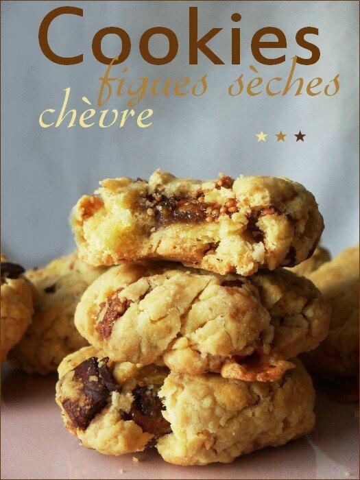 Cookies salés chèvre - figues sèches 1