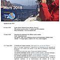 Agenda de la mer : mars 2018 - agenda of the sea : march 2018