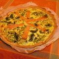 Tarte saumon fumé et brocolis