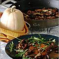 Butternut aux champignons (shiitake, pleurotes & champignons de paris bruns)