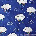 520 - Jolis nuages fond bleu