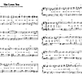 She loves you (partition - sheet music)