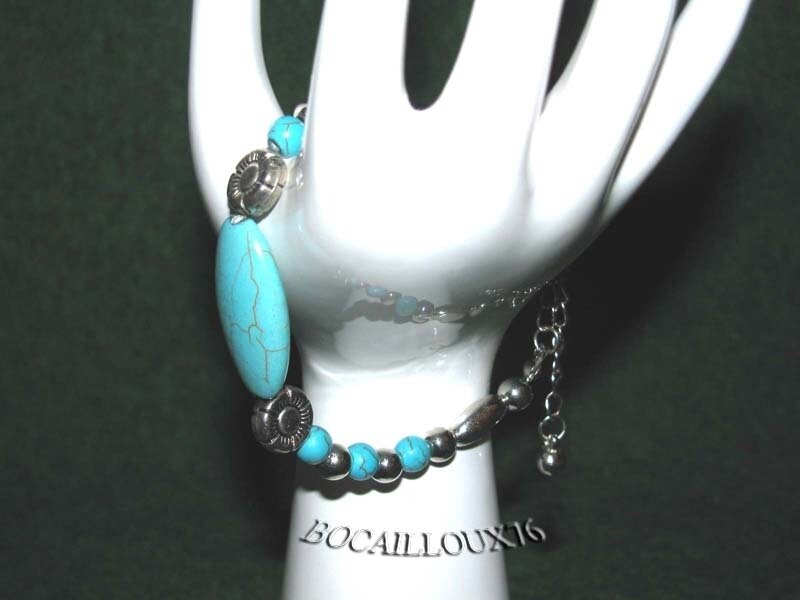 Bracelet HOWLITE Turquoise 6 (2)