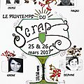 7ieme édition du printemps du scrap 2017