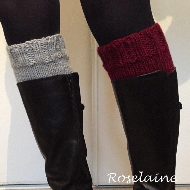 Roselaine boot cuffs bicolores 2