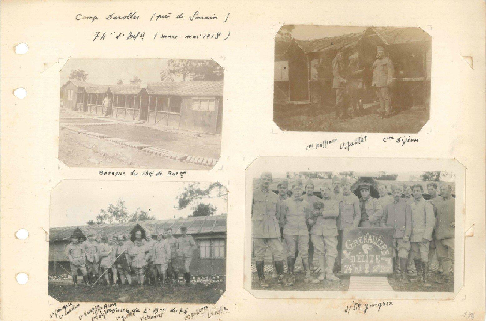 p.198 Secteur de Champagne 74e RI (14 mars – 25 mai 1918)