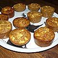 Muffins aux flocons d'avoine et aux pommes