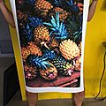 ananas, digigraphie sur toile canvas