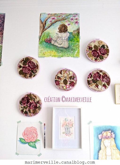 Atelier marimerveille - broderie créative - aquarelles -©Marimerveille