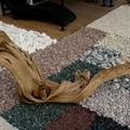 Exposition de pieces de bois