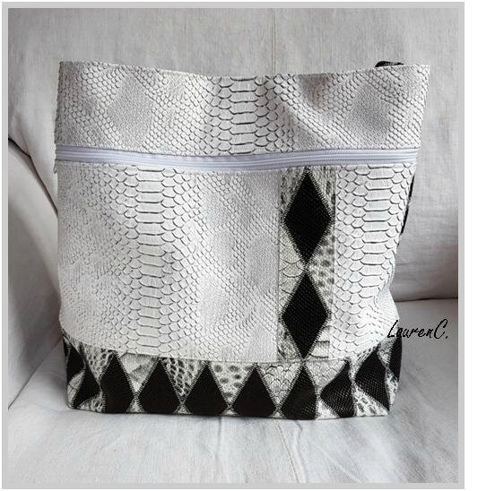 SAC SIMILI ANACONDA DRAGON BLANC DOS