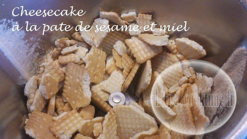 Cheesecake à la pate de sésame et miel 2