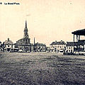 Carte postale Cuesmes - Place