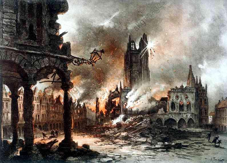 Bombardement d Arras Gustave Fraipont