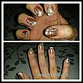 Nail art simple couleur capuccino