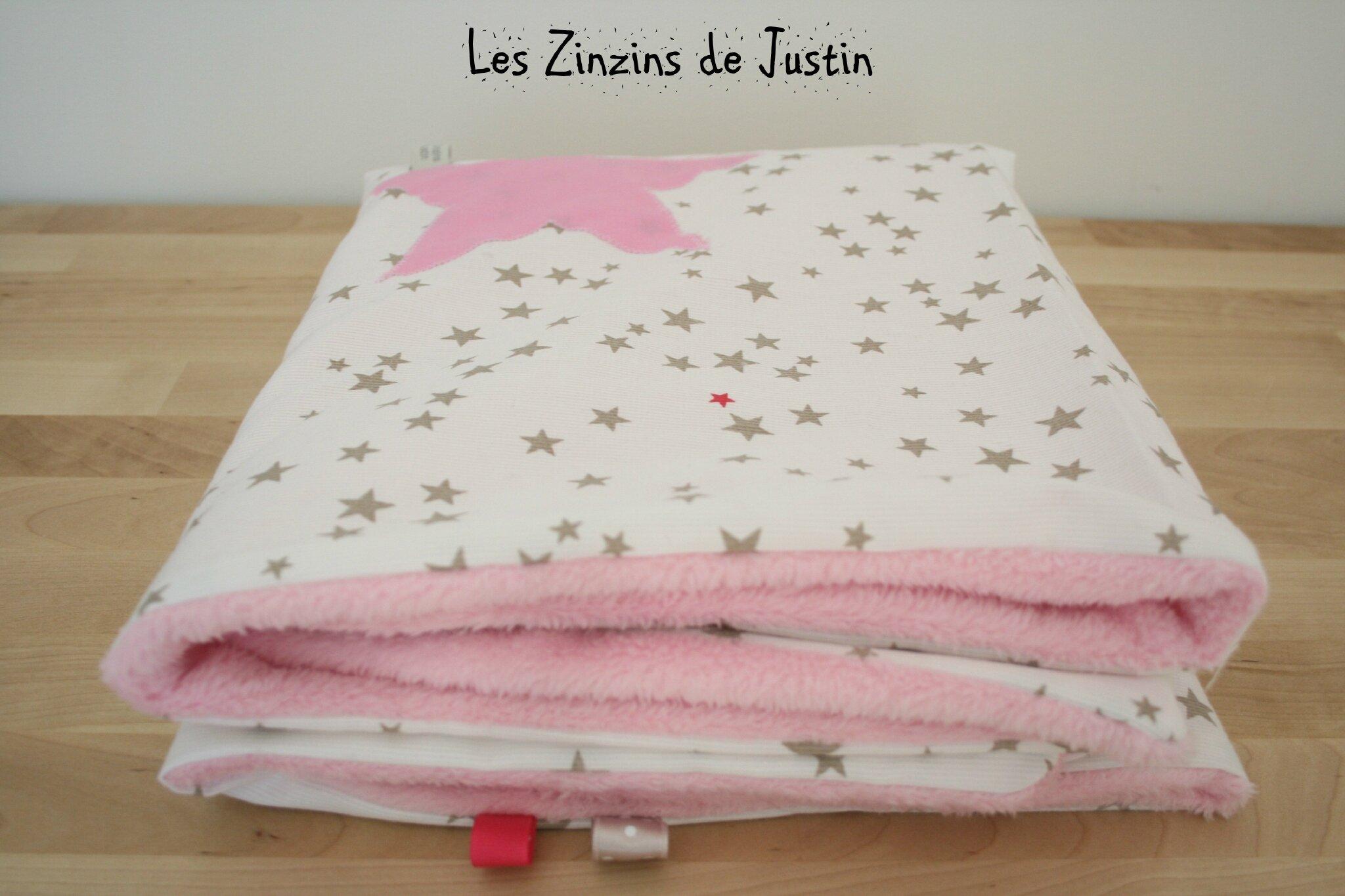 couverture bébé microfibre Les Zinzins de Justin couverture bébé microfibre