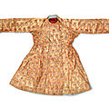 A rare gold brocade robe, mughal india, circa 1700