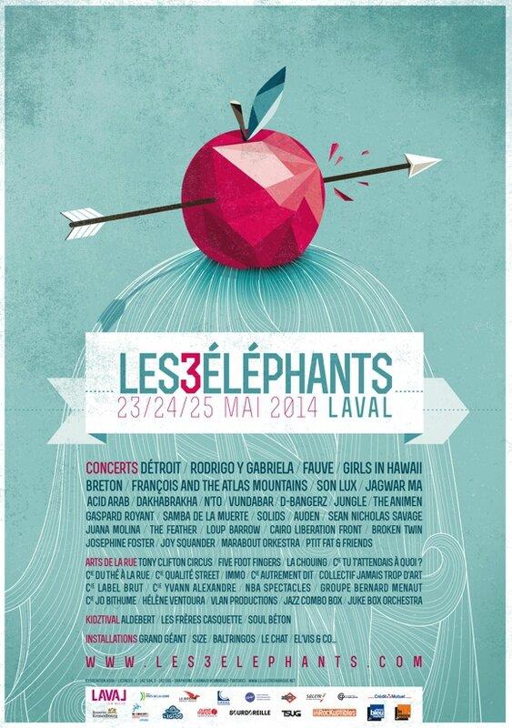 festival les 3 Eléphants 2014 Laval affiche poster