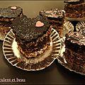 Petits coeurs chocolat special saint valentin!!