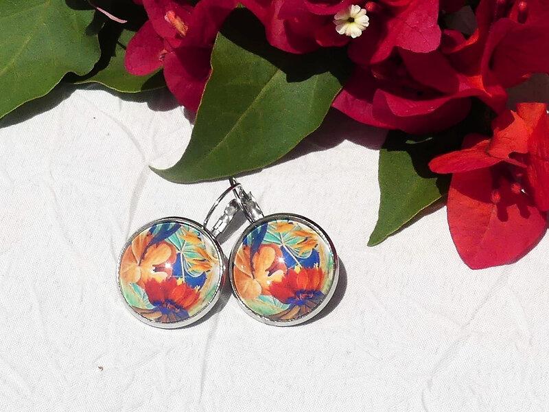 bijoux colores made in guyane par louise indigo fleurs oranges (8)