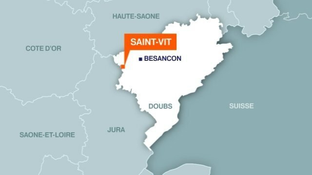 Carte Saint-Vit (Doubs)