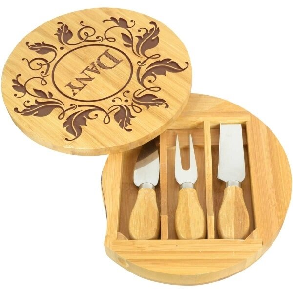 set-a-fromage-personnalise-avec-couverts-bambou