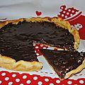 Tarte chocolat/nougatine