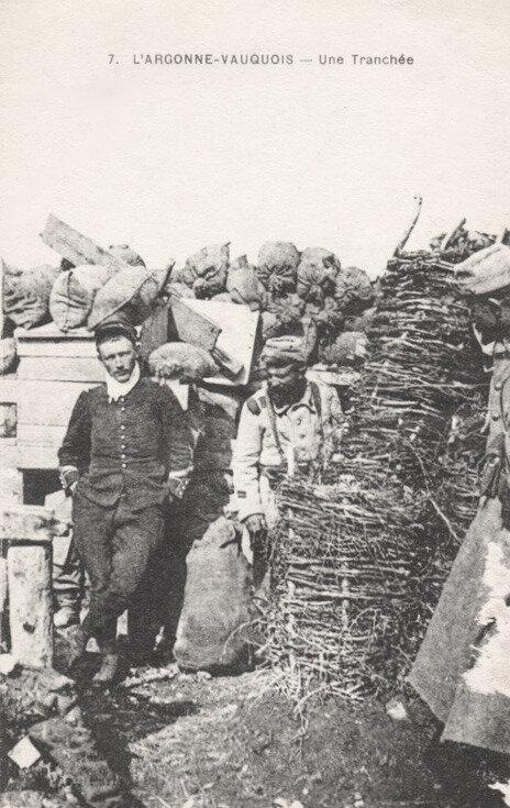 Vauquois, une tranchée 1915