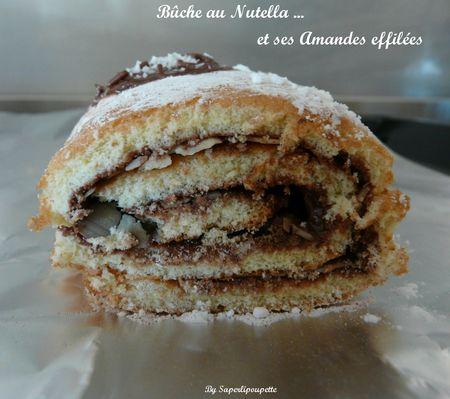 Buche Nutella, Amandes effilées