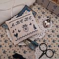 ABCDE Navy Blue Mini Sampler US$ 6.00
