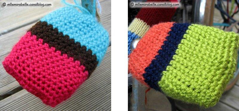 yarn bombing pedales bike