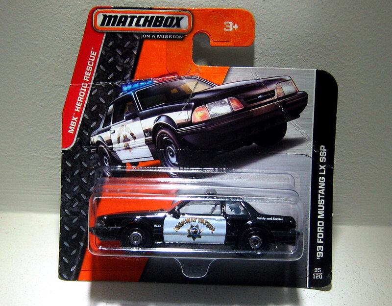 Ford mustang LX SSP de 1993 (Matchbox)