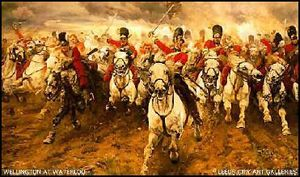 Charge des anglais à Waterloo