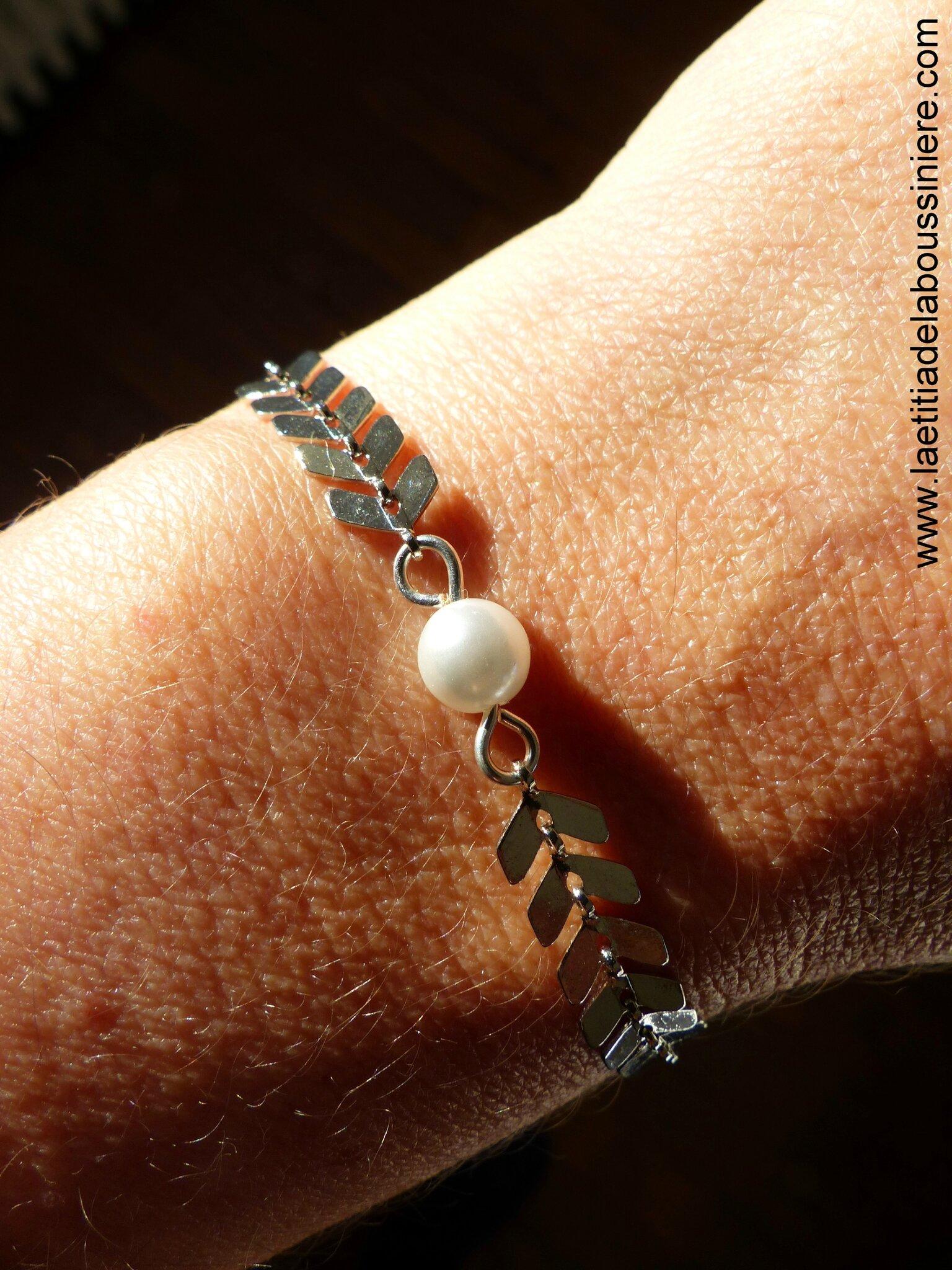 Bracelet Ludivine (argenté) porté au soleil - 17 €